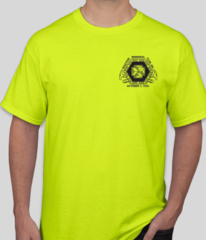 Safety Green-colored BMC T-shirt with BMC logo